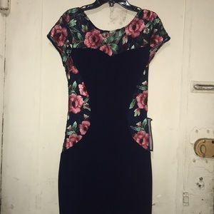 Bcx Navy floral dress